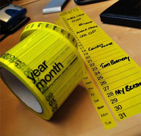 calendar-tape